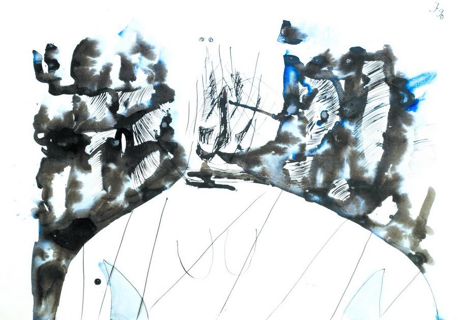 Pušač (2440), 1990., akvarel, papir, 70x100cm