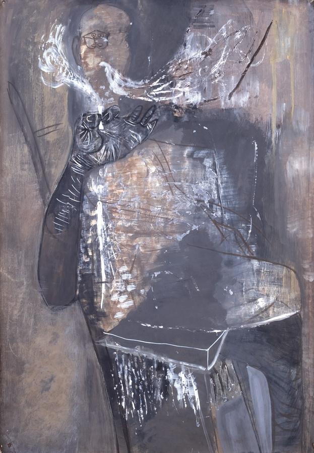 Pušač (Z1), 1950., tempera, papir, 100x70cm