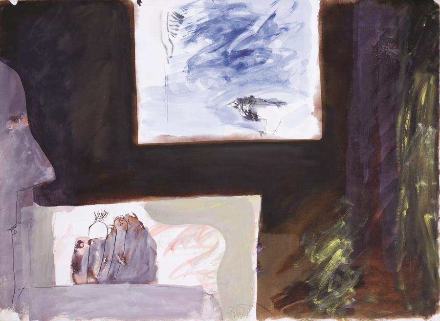 Slikar 14 (97), 1978., tempera papir, 56x76,5cm