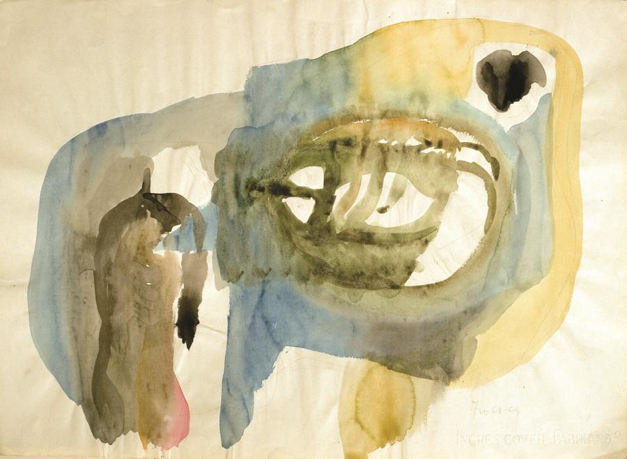 Slikar (15), 1968-69., akvarel, papir, 48x66cm