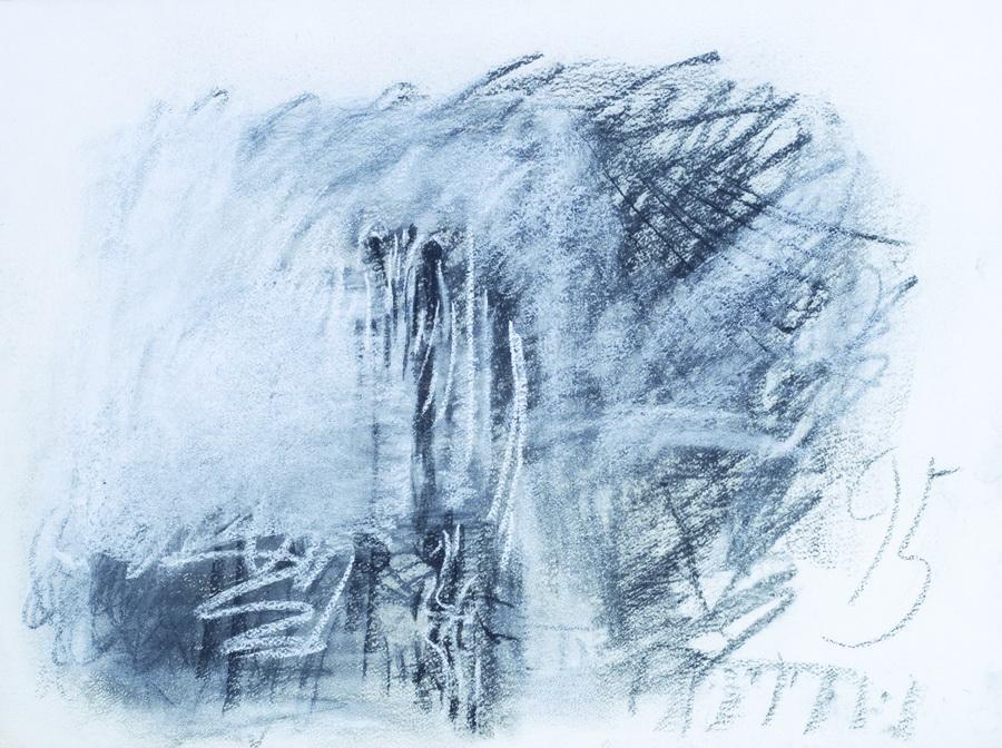 Slikar (163), 1995., ugljen, papir, 57x76cm