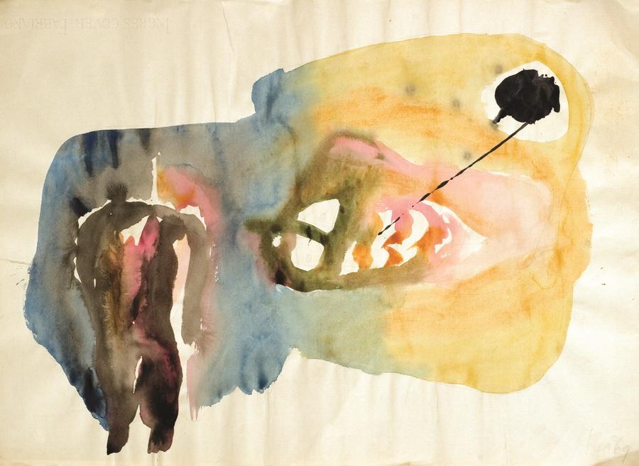 Slikar (9), 1969., akvarel, papir, 48x66cm