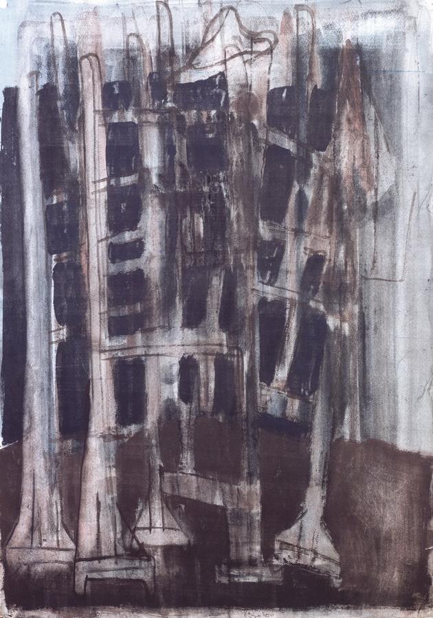Slikarski stalci (23), 1950., tempera papir, 84x60cm