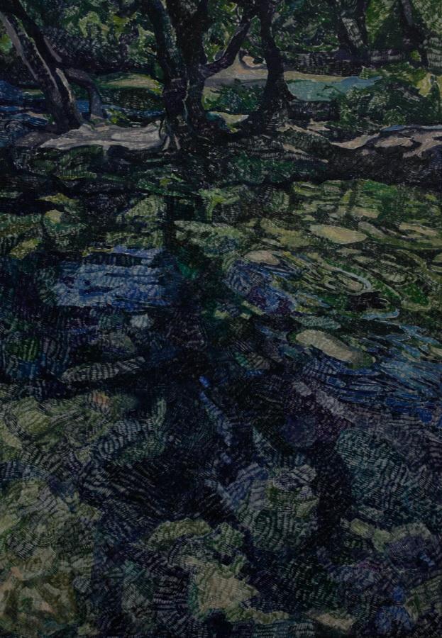 Tamna šuma, ulje na platnu, 75x90