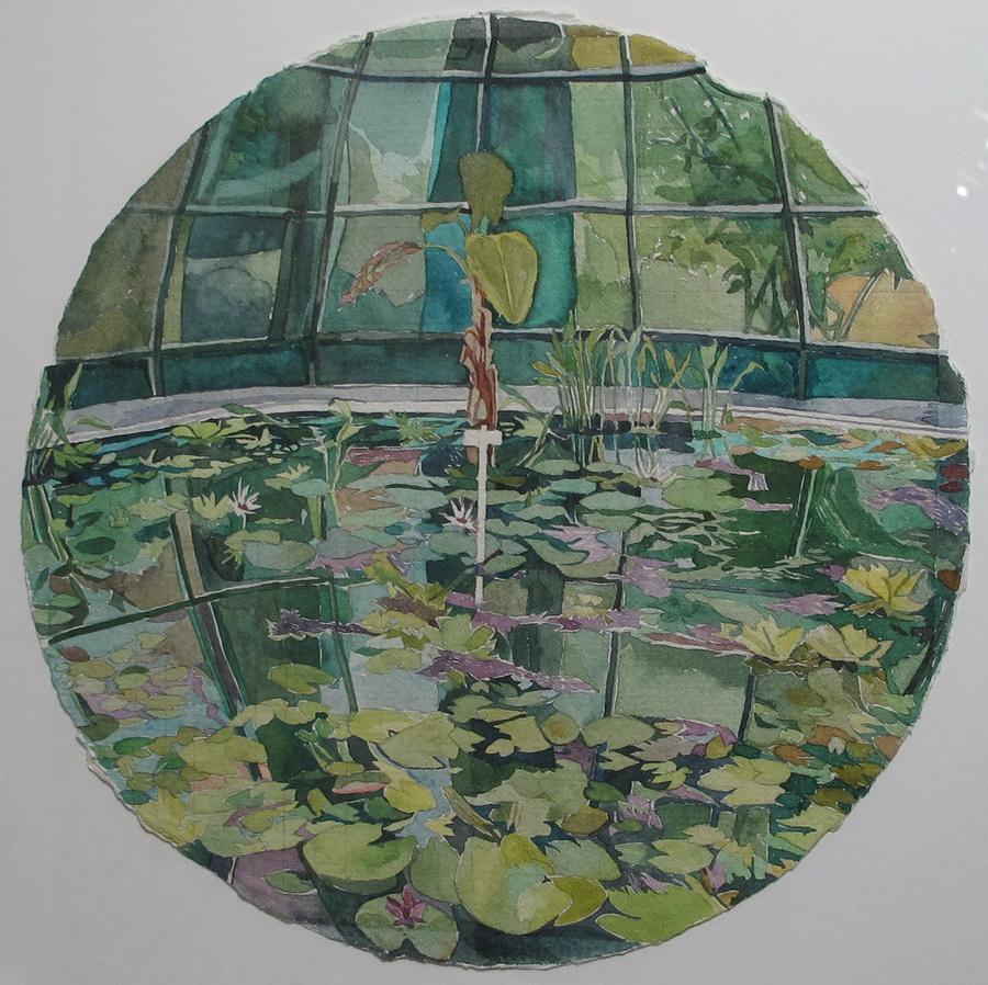 Zatvoreni krug, 2014., akvarel na papiru