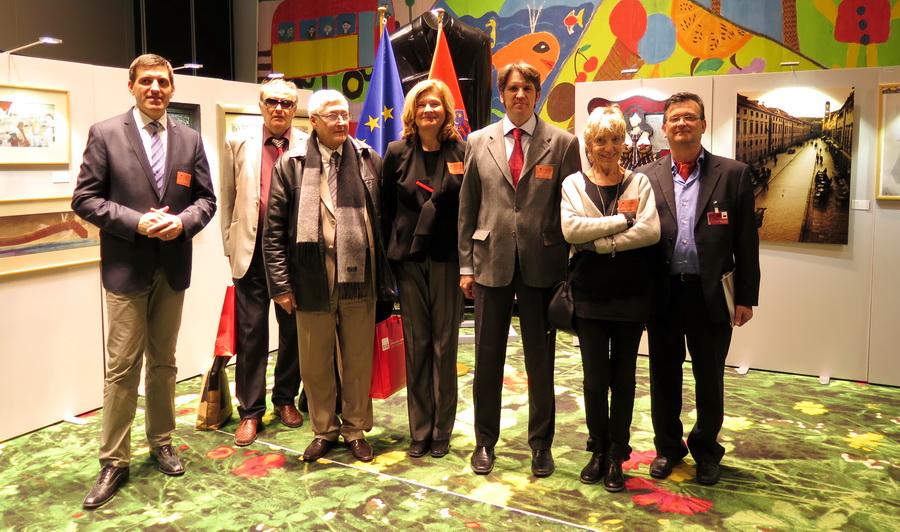 Otvorenje izložbe - Flower Carpet Exhibition Area, Europski parlament u Strasbourgu