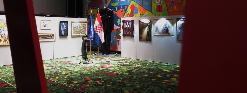 Postav izložbe - Flower Carpet Exhibition Area, Europski parlament u Strasbourgu
