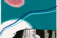 Džepno Sunce - akril, kolaž, marker,  digitalni crtež, 30x40cm, 2019.