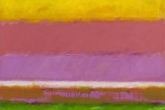 Žuti, ljubičasti i zeleni krajolik, 2009.