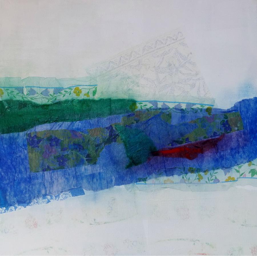 Broken - collage on canvas, 60x60cm, 2014.