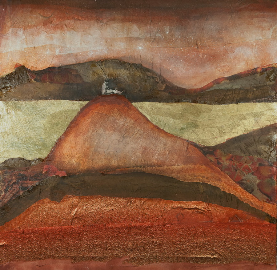 Wadi Rum (Jordan) -  collage on canvas, 70x70cm, 2015.