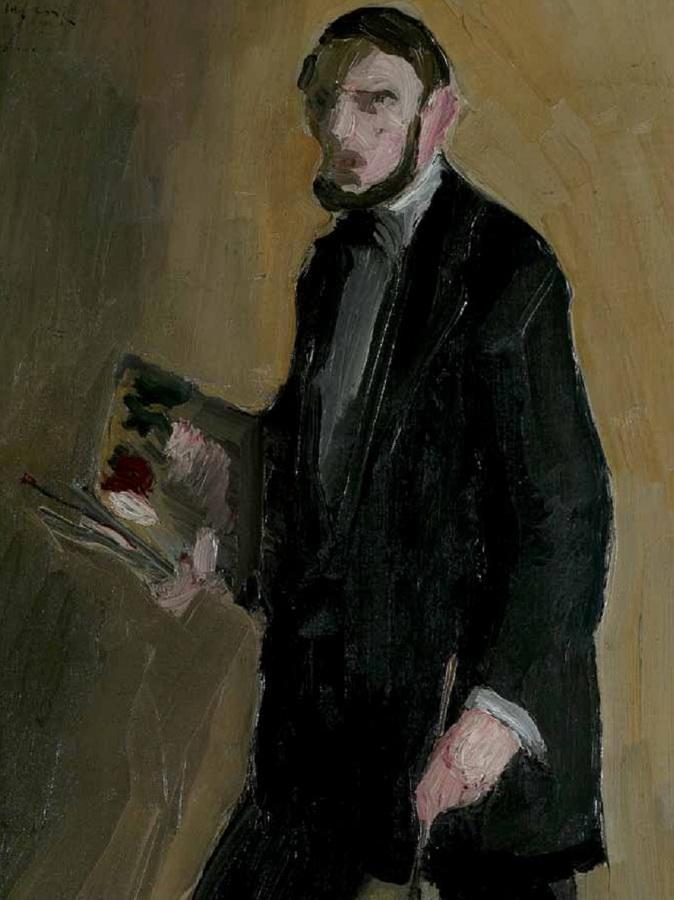 Autoportret s paletom, 1912. (detalj)