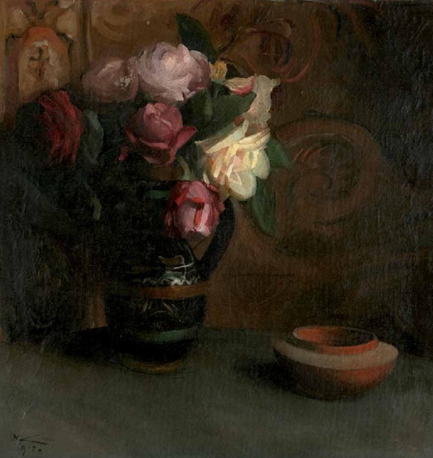 Cvijeće (Mrtva priroda s ružama), 1910.