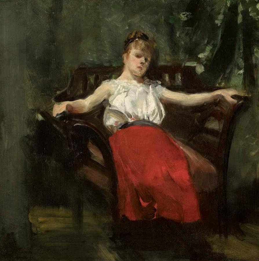 Djevojka u naslonjaču (Zlata Kolarić-Kisur), 1911.