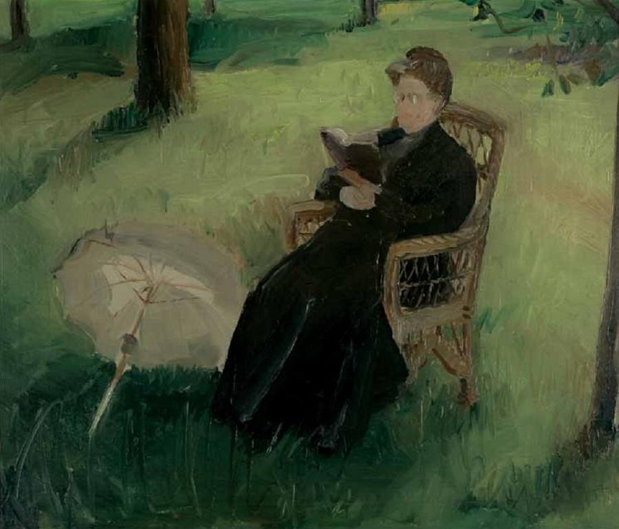 Teta Lujka u vrtu, 1911.