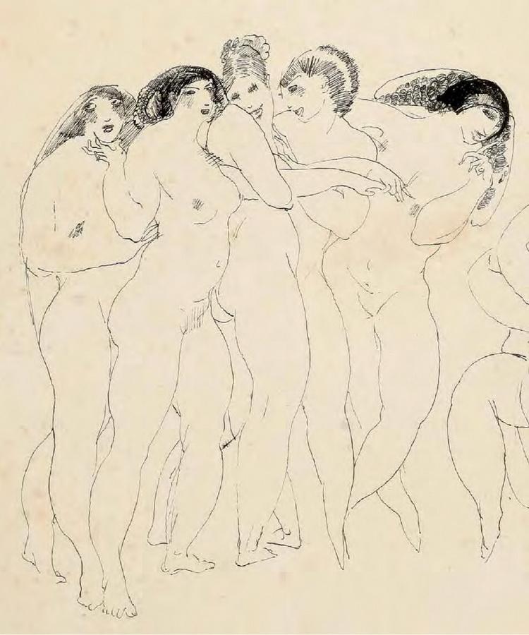 Žene u lupanaru, 1912. (detalj)