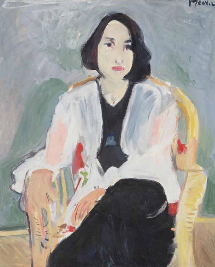 Portret mlade žene Ivane K., 1995.; snimio Goran Vranić©Moderna galerija, Zagreb, 2016.