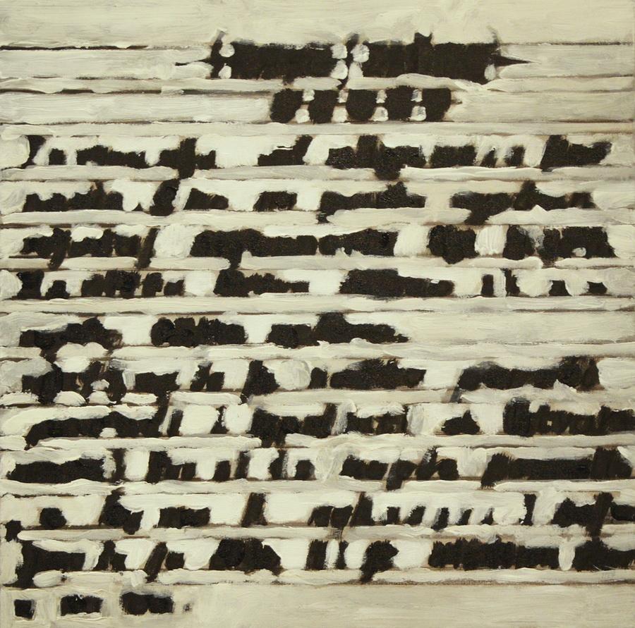 Janko Ivčić - Manji Kriptogram; akrilik na platnu, 50x50cm, 2017.