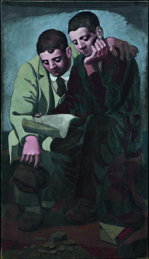 Čitanje pisma, Pariz, 1921.