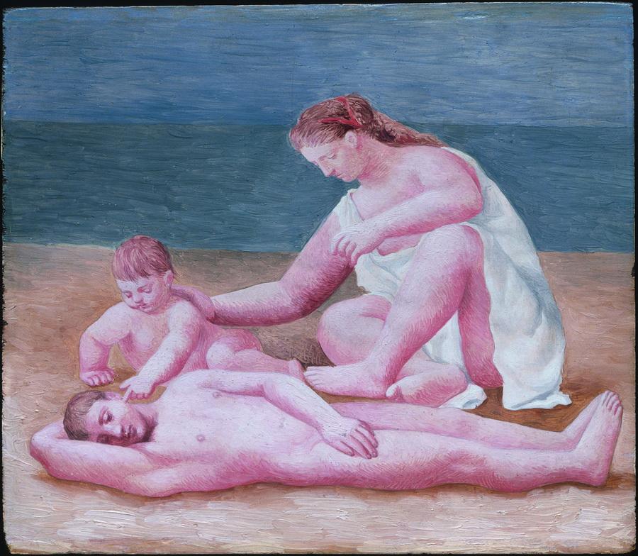 Obitelj na obali mora, Dinard, 1922.