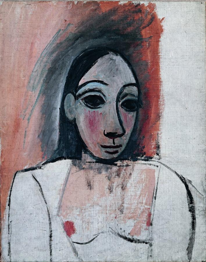 Poprsje žene (Studija za Gospođice iz Avignona), Pariz, 1907.