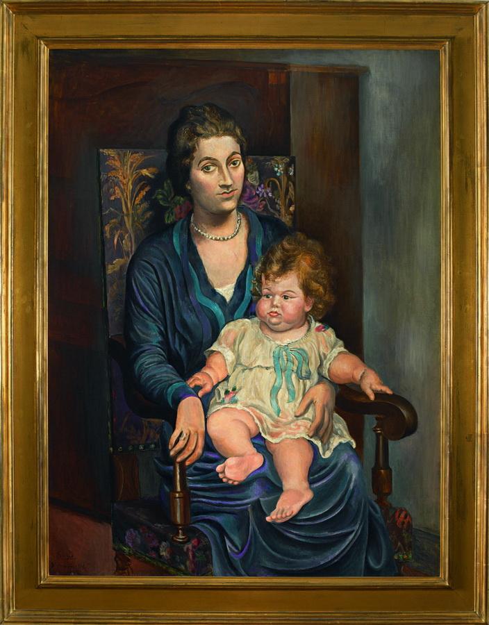 Portret gospođe Rosenberg s kćerkom, Biarritz, 1918.