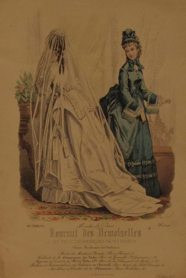 Modni list Journal des Demoiselles, Pariz, 1879-1871.
