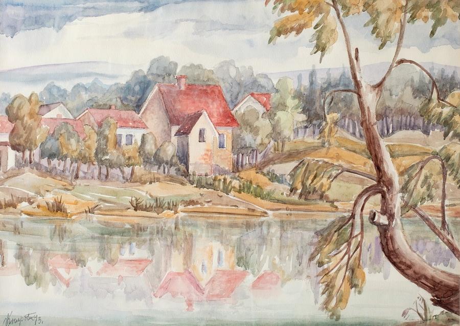 Mlin na Kupi - akvarel, 1993., 42x60cm