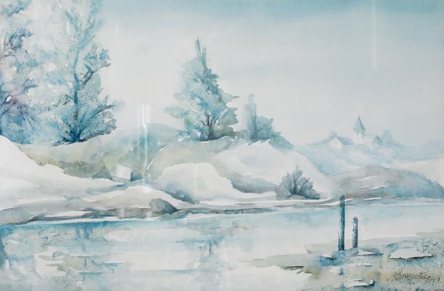 Ogledalo Dobre - akvarel, 2002., 35x62cm