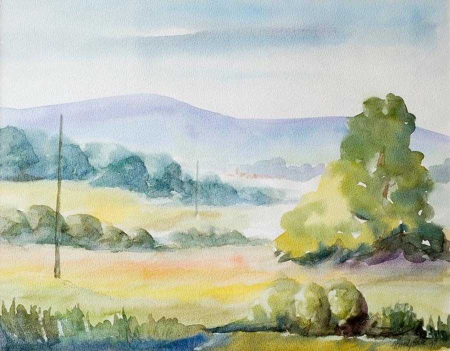 Pejzaž - akvarel, 1997., 40x50cm