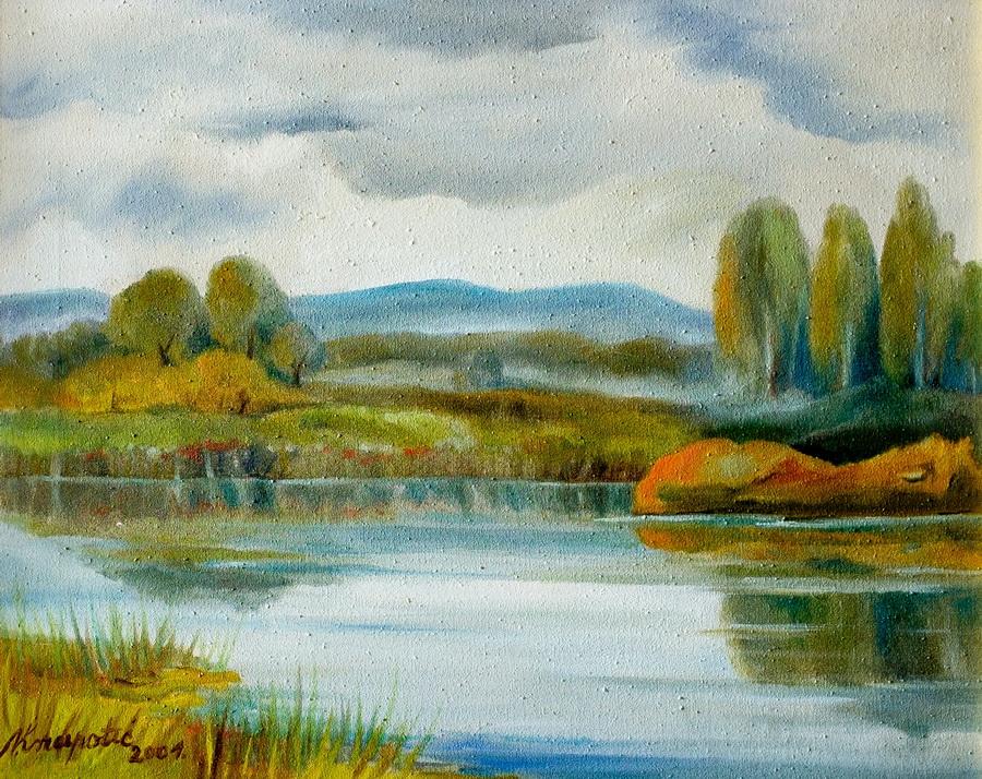 Ribnjaci - ulje na platnu, 2001., 40x50cm