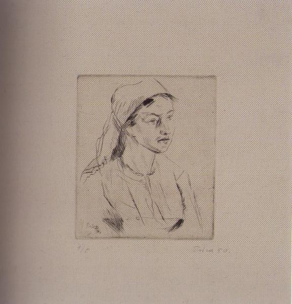 Djevojka iz Rakovice, 1950., suha igla