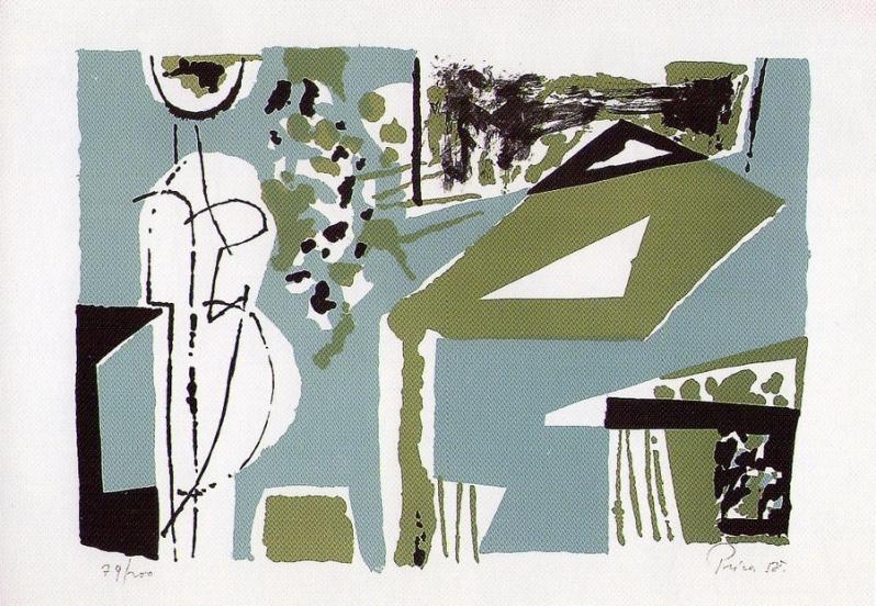 Stol u zelenom prostoru, 1958., litografija u boji